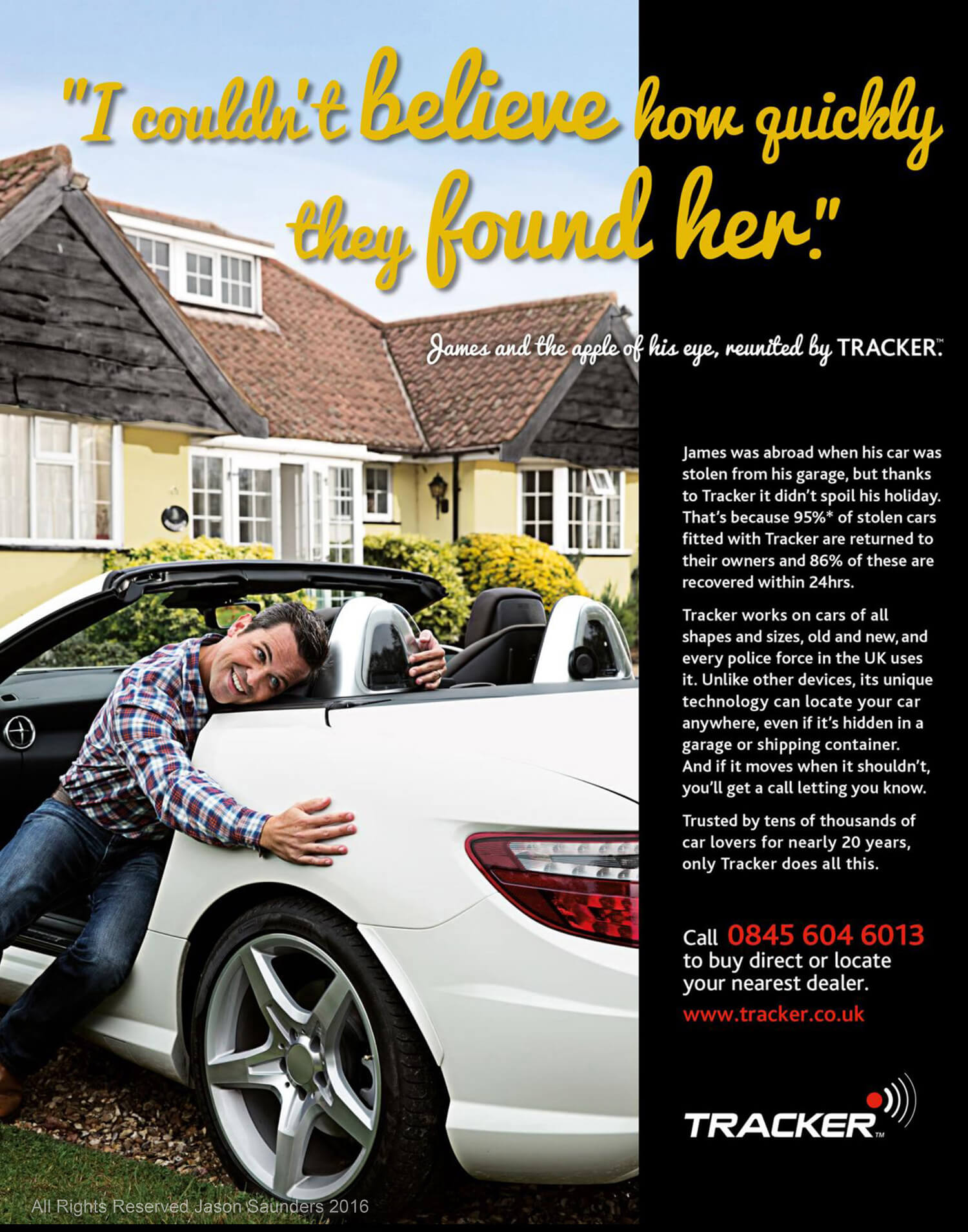Car Tracker Advertisement, Jason Saunders